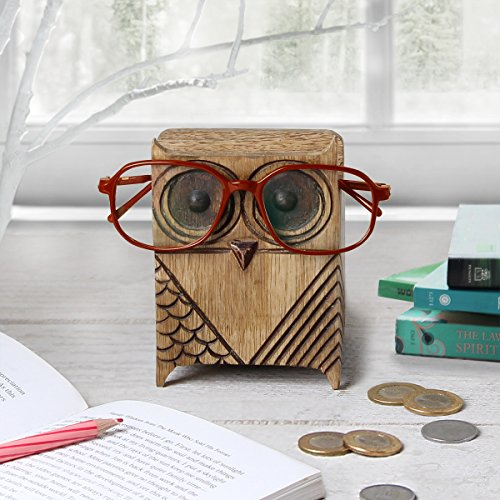 Christmas Gift Owl Shaped Eyeglasses Holder Spectacle Stand Plus Piggy Bank Money...