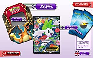 La BOX Attaque Eclair SHAYMIN EX Full Art RC21/RC25 Legendary Treasure + 2 booster optimisés de 10 cartes Anglaises