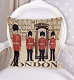 Gobelin Kissen London Dekokissen Beefeaters Kissenhülle England Palazzo Exclusiv