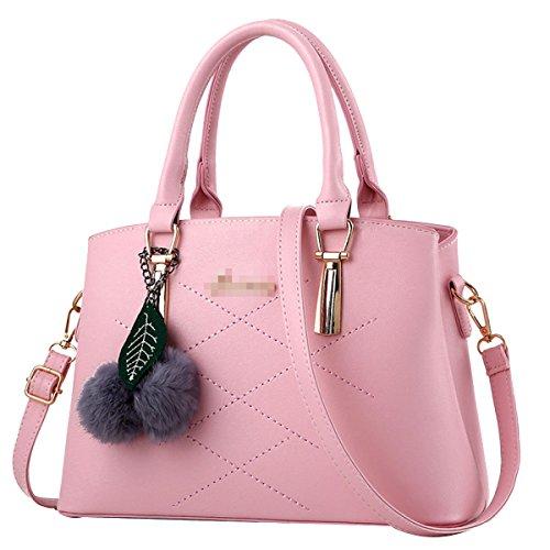 Frauen Top Griff Schulranzen Handtaschen Taschen Handtasche Multicolor Pink2