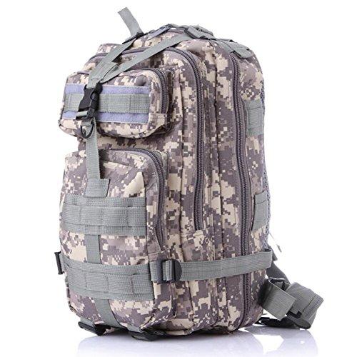 fulanda Rucksack Outdoor Tactical Rucksack Sport Camouflage Tasche für Camping Reisen Wandern Trekking ACU Camouflage