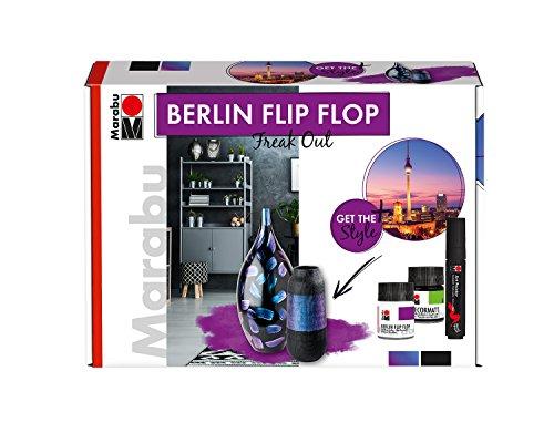 Marabu - Farbtonflop-Effektfarbe, Berlin Flip Flop Set, Freak Out