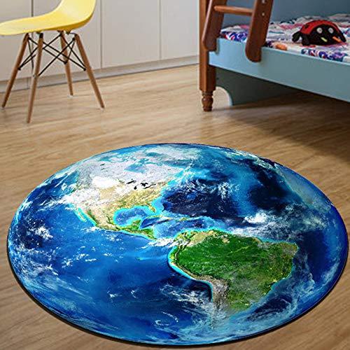ROSE GUO Tapis 3D Rond Motif De Lune étude Salon Chambre Chaise D'ordinateur Tapis De Chevet,Diameter100cm