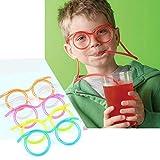 NqceKsrdfzn DIY kreative Lustige Brille Trinken Stroh mit Rohr, Kinder, Spaß Party