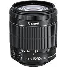 Canon EF-S 18-55mm f/3.5-5.6 IS STM - Objetivo para Canon (distancia focal 18-55mm, apertura f/3.5-38, zoom óptico 3x,estabilizador óptico, motor de enfoque, diámetro: 58mm) negro