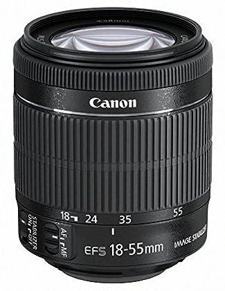 Canon EF-S 18-55mm f/3.5-5.6 IS STM - Objetivo para Canon (distancia focal 18-55mm, apertura f/3.5-38, zoom óptico 3x,estabilizador, motor de enfoque, diámetro: 58mm) negro