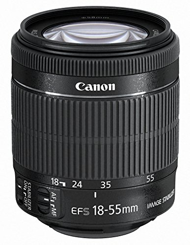 CANON EF-S 18-55MM F/3 5-5 6 IS STM - OBJETIVO PARA CANON (DISTANCIA FOCAL 18-55MM APERTURA F/3 5-38 ZOOM OPTICO 3X ESTABILIZADOR OPTICO MOTOR DE ENFOQUE DIAMETRO: 58MM) NEGRO
