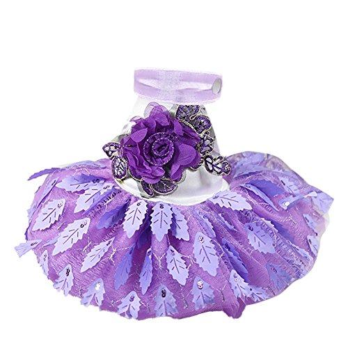 XIYAO Kleider Party Kleid Sommer 3D Print Mesh Brautkleid für Welpen