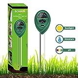 Sonkir Soil pH Meter, MS01 3-in-1 Soil Moisture/Light/pH Tester Gardening Tool Kits