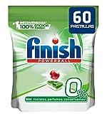Finish 0% Pastiglie per Lavastoviglie - 60 Pastiglie 1 Unità 500 ml