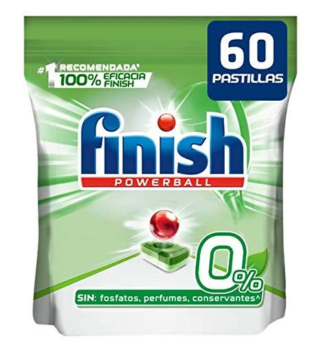 Finish 0% - Pack de 60 Pastillas para Lavavajillas