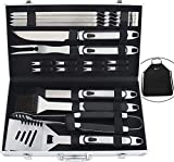 Best Bbq Accessories - ROMANTICIST 20PC Barbecue Accessories with Rubber Handle- Stainless Review