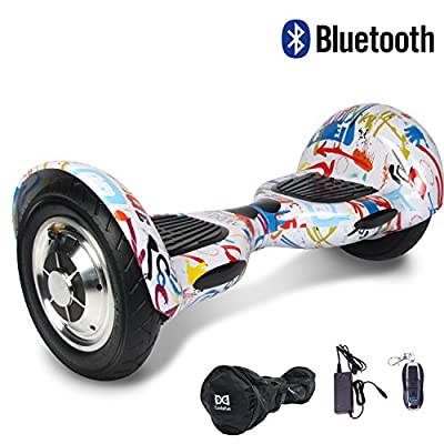 "Cool&FunBluetooth Hoverboard Elektro Scooter E-Balance E-Skateboard 10"" Luftreifen von Shop Gyrogeek 350X2W (Graffiti)"