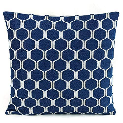 Dekorative Kissenhülle Beletage Retro Agadir blau 45 x 45 cm -