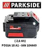 Parkside Batterie 18V 2,6Ah Pap 18–2.6A1pour pdssa 18A1–Ian 104449Batterie drehsch Visseuse à chocs