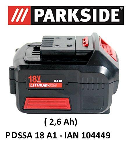 Parkside Batterie 18 V 2,6 Ah Pap 18-2.6 A1 pour pdssa 18 A1 - Ian 104449 Batterie drehsch Visseuse à chocs