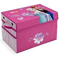 Preisvergleich für Toy Box faltbar Eisprinzessin FROZEN Spielzeugkiste für Kinder Aufbewahrungsbox Canvas mit Netz NEU