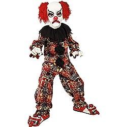 Costume Carnevale Halloween Clown Pagliaccio Spaventoso Del Circo - Bambino