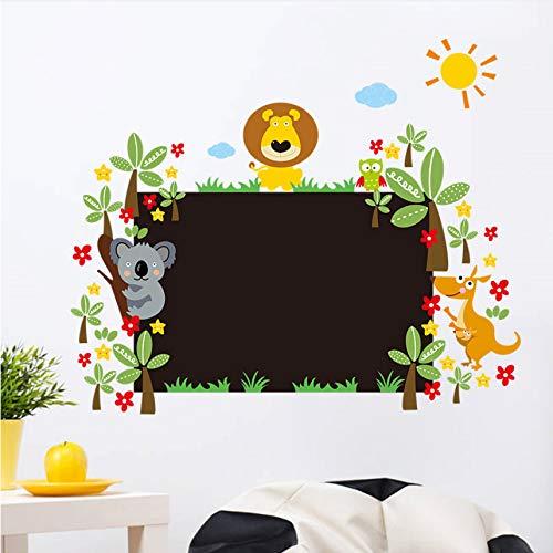 Cczxfcc Dschungel Wilde Tier Tafel Wandaufkleber Für Kinderzimmer Zeichnen Kindergarten Kreide Bord Wohnkultur Cartoon Wandtattoos Tapete Kunst