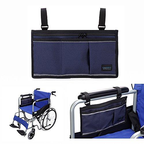 Gehhilfe Tasche Rollstuhl Elektroroller Tasche Reisetasche Bags Armlehne Seitenorganisator Mesh-Aufbewahrungshülle Für die meisten Bettgitter Roller Walker elektrischer & manueller Elektrorollstuhl - Rollstuhl Armlehne