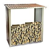 Kaminholzregal - Brennholzregal - Regal aus feuerverzinktem Stahlblech