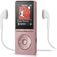 Fernbedienung am Kopfhörer 8GB MP3 Player 1,8 Zoll Display Musik Player 70 Stunden Wiedergabe, von AGPTEK A20, Rosegold