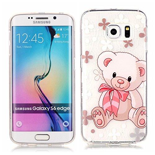 Ecosway copertura / coperture / insiemi di telefono / shell protettivi apparecchi telefonici mobili chiari e trasparenti Custodia TPU silicone Crystal per Apple iPhone 5 5S, case cover protettivo dise XS orso