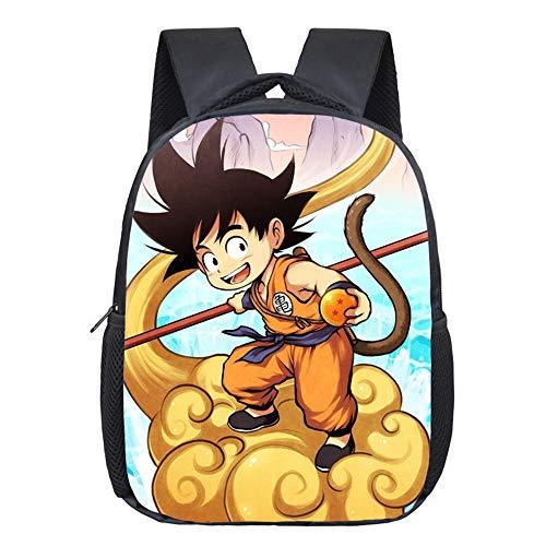 12 Pulgadas Anime Dragon Ball Niños Bolsos Escolares Sun...