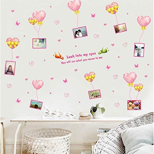 KIHUI Verschönern Sie die Wanddekoration Malerei Liebe Anhänger Fotorahmen Wandaufkleber Ballon Wohnzimmer Schlafzimmer kreative Wandaufkleber - Magnolia Glas-anhänger