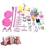 Ropa Y Accesorios Best Deals - 58 Piezas Esencial Accesorios 10 Piezas Mini Falda Lindo para Muñecas Barbie Como Regalo de Cumpleaños de la Muchacha
