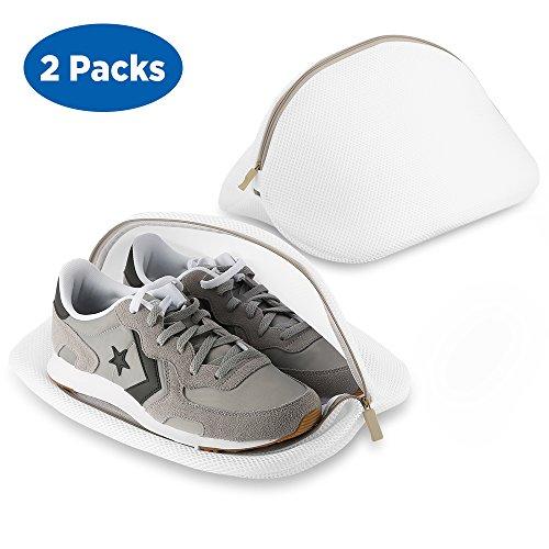 Ecooe Paquete de 2 Bolsas Premium de Malla de Lavandería para Zapatos