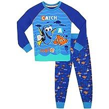 Alla ricerca di Dory - Pigiama a maniche lunga per ragazzi di Dory e Nemo - Vestibilitta Stretta