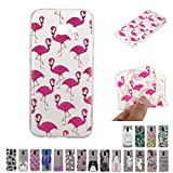 V-Ted Coque Samsung Galaxy A3 2017 Flamant Rose Silicone Ultra Fine Mince Bumper Housse Etui Cover Transparente avec Motif Dessin Antichoc Incassable