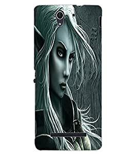 ColourCraft Vamp Look Design Back Case Cover for SONY XPERIA C3 DUAL D2502