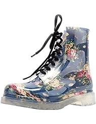 LaoZan - Botas - Impermeable Elegante y Suave para Mujeres