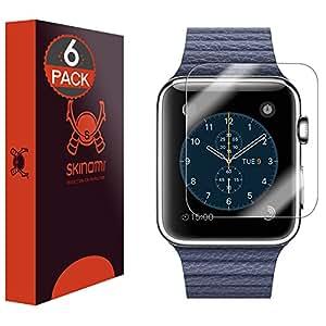 Skinomi TechSkin - Lot de 6films de protection d'écran pour Apple Watch 42mm (couvre toute la surface de l'écran et résistant à l'eau)