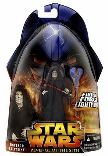 Star Wars Episode III 3 Revenge of the Sith EMPEROR PALPATINE Firing Force Lightning Figure #12 by Hasbro
