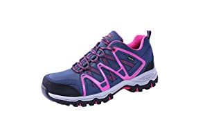 TFO Women's Waterproof Hiking Shoes, Lightweight Breathable Running Trainers Low Rise Trekking Walking Boots