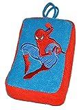 Unbekannt Badeschwamm / Plüschtier - Spiderman - Schwamm mit Stoff bezogen - Badespielzeug für Kinder Stofftier Amazing Spider Man Spinne Spider-Man für Jungen