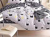 PENVEAT 1 STÜCKE Bettbezug 220 * 240 Bettwäsche Quilt Decke Tröster Abdeckung Druck Einzel Doppel Königin König Maßgeschneiderte 140 * 200 cm Nordic, Farbe 04,155x215 cm