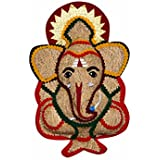 QZON - Lucky Ganesh : Herbal , Organic, Vettriver Root, Fragrance, Fortune, Shinning Lucky Ganesha For Wall Hanging, Home Decor, Hanging In Office, Gift Etc. God Of Prosperity - Purifies Air Spreads Happiness And Positive Vibrations.