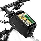 Fahrrad Rahmentaschen, Ubegood Fahrrad Rahmentaschen Handyhalter Fahrrad Tasche mit wasserdichte für iPhone 6s Plus/6 Plus/Samsung s7 edge andere bis zu 5,5 Zoll Smartphone