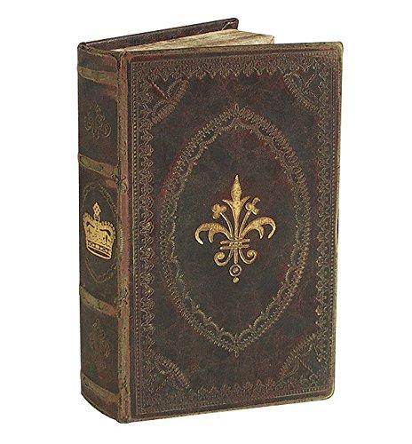 Hohles Buch mit Geheimfach Barock Buchversteck Antik-Stil 21x12,5cm