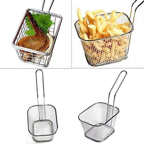 Uswine Edelstahl Mini Französisch Fritteuse Korb Net Mesh Fries Chip Küche Werkzeug Kochen & Backen (Korb Chip)