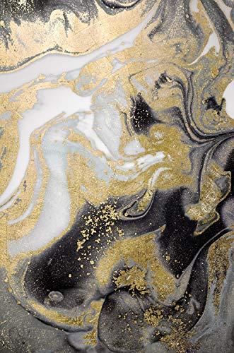Queence   Acrylglasbild mit Blattgold   Wandbild Glasbild Acrylbild Rahmenlos   Abstrakte Kunst   Druck auf Acrylglas   Goldveredelung   Größe: 40x60 cm