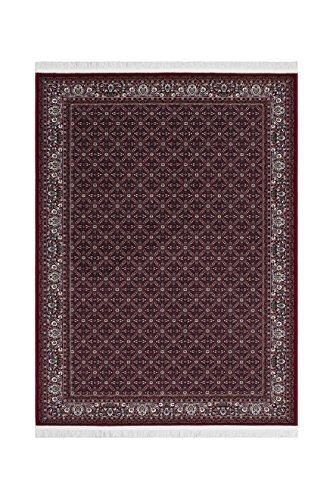 Teppich Wohnzimmer Carpet Klassisch Traditionell Design Jordan - Kerak Rug Ornament Bordüre Muster Acryl 200x300 cm Rot/Teppiche günstig online kaufen