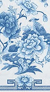 Entertaining with Caspari Paper Guest Towels, Blue and White, 15-Pack