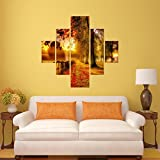 #5: DeStudio Sunset Scene With Tree Wall Painting Stickers (Wall Covering Area : 95cm X 86cm )-13521