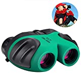 Azornic 8x21 Compact Waterproof & Shock Proof Binoculars for Kids - Best Gifts (Green)