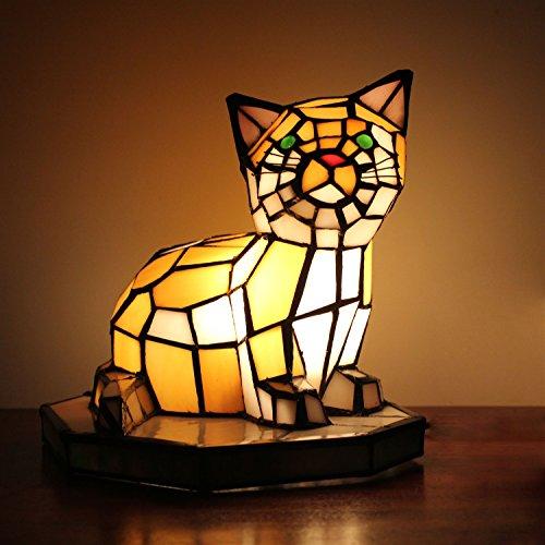 Gweat Lampe de table chat créative européenne lampe de nuit pour enfants
